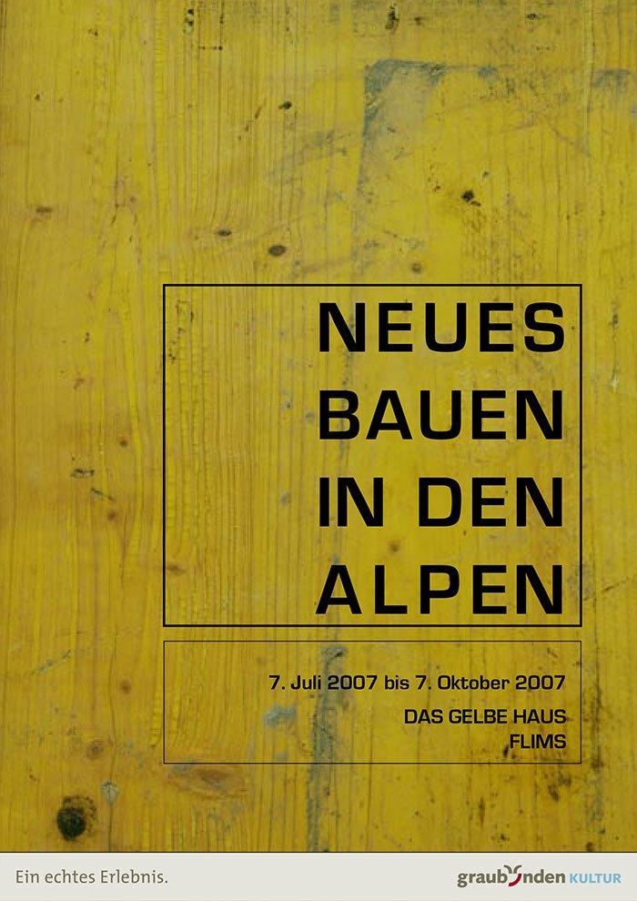 Neues bauen in den alpen das gelbe haus flims for Neues bauen